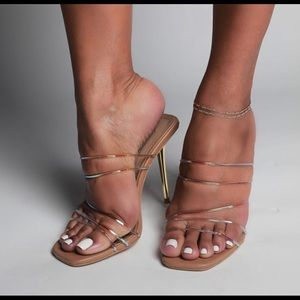 Strappy Nude Mules
